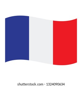 France flag. Simple vector France flag French