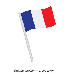 France flag. Simple vector French flag