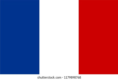 France flag vector drawing