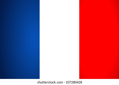 France Flag. Vector illustration.