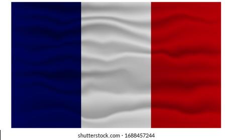 France Flag in Vector Illustration