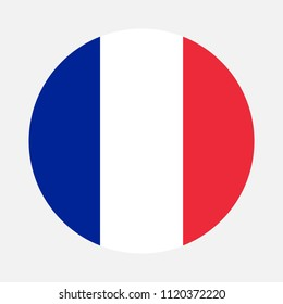 France Flag, Vector image and icon