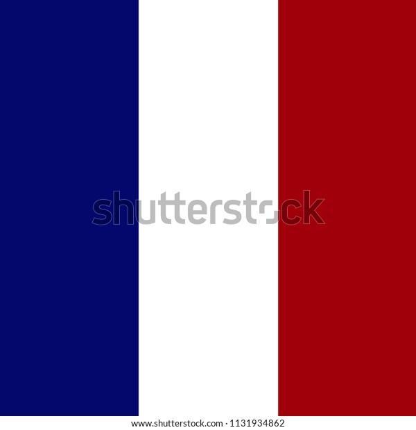 Vector De Stock Libre De Regalías Sobre France Flag