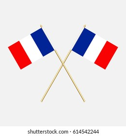 France; France  Flags. Vector illustration.