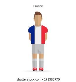 France football player. Soccer uniform. Vector illustration.