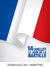 France. French translation of the inscription: 14 th of July. Bastille Day.