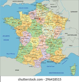 Map Of France Detailed.France Map Images Stock Photos Vectors Shutterstock