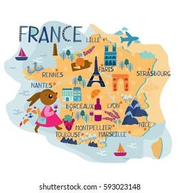France map for kids