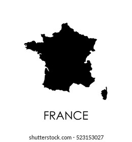 France map in white background