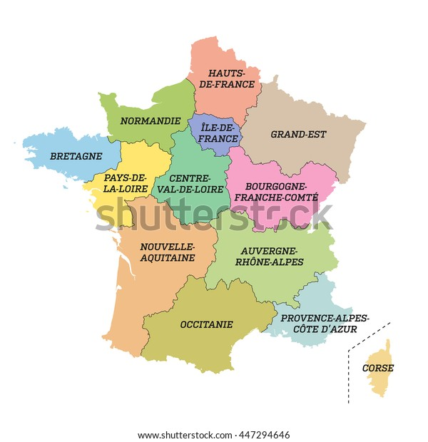 Ranskan Paakaupunkiseudun Kartta Uusilla Alueilla Arkistovektori