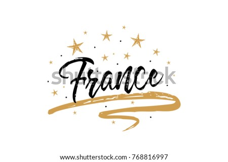 france name country word text card のベクター画像素材 ロイヤリティ