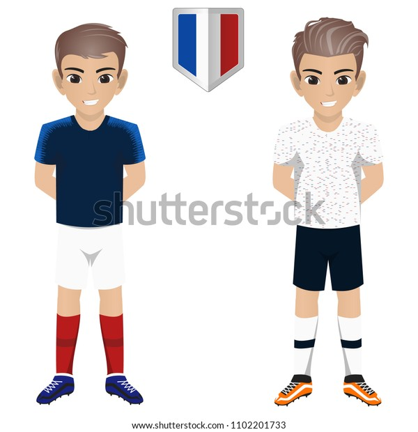 wholesale dealer a531f 3bbd9 France National Football Team Kit International Stock Vector ...