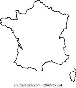 France outline map