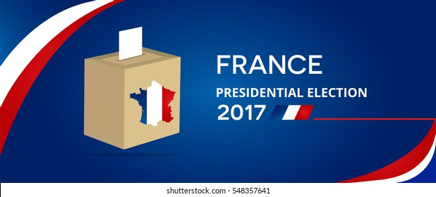 France presidential election with ballot box