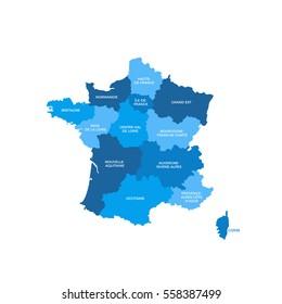 France Regions Map