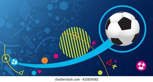 France soccer symbol 2016. Flat Vector Icon.