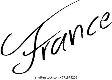 France text sign illustration on white Background