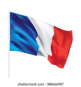 france vector flag isolated texture