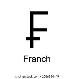 franch icon. Element of currency for mobile concept and web apps. Detailed franch icon can be used for web and mobile. Premium icon on white background