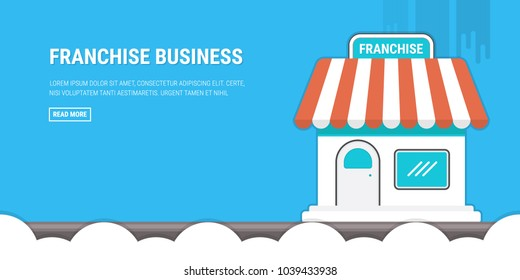 Franchise business concept, franchise marketing system
