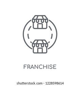 Franchise linear icon. Modern outline Franchise logo concept on white background from Startup Strategy and Success collection. Suitable for use on web apps, mobile apps and print media.