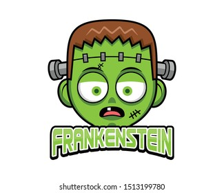 Frankenstein Head cute ghost funny Halloween Party