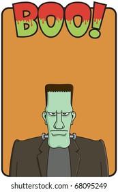 Frankenstein template for halloween invitation or poster