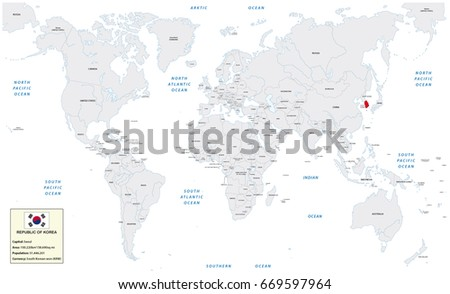 Frankfurt Germanyjuly 01 2017 World Map Stock Vector Royalty Free