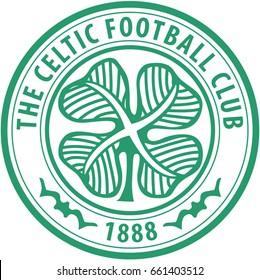FRANKFURT, GERMANY-JUNE 17, 2017: The Celtic Football Club logo