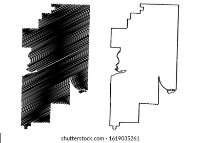 Franklin County, Arkansas (U.S. county, United States of America,USA, U.S., US) map vector illustration, scribble sketch Franklin map