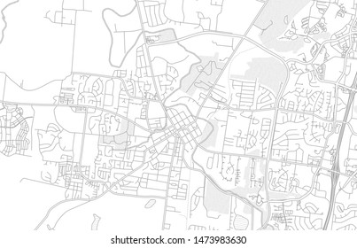 Franklin, Tennessee, USA, bright outlined vector map with bigger and minor roads and steets created for infographic backgrounds.