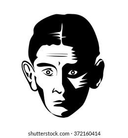 Franz Kafka - vector graphic