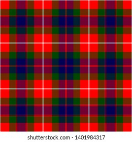 Fraser Lovat Modern Tartan. Seamless pattern for fabric, kilts, skirts, plaids
