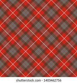 Fraser Weathered Tartan. Diagonal cell, seamless pattern for fabric, kilts, skirts, plaids