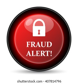 Fraud alert icon. Internet button on white background. EPS10 vector