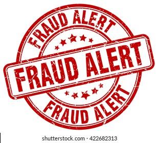 fraud alert. stamp