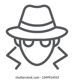 Fraud line icon, anonymity and agent, spy sign, vector graphics, a linear pattern on a white background, eps 10.