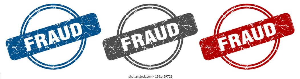 fraud round isolated label sign. fraud stamp