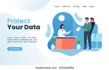 fraud with stolen fake data illustration concept for landing page