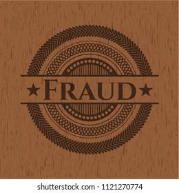 Fraud vintage wood emblem