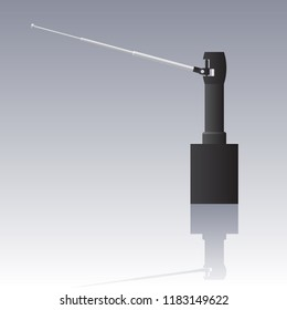 Fraudulent remote substance detector, isolated vector illstration object.