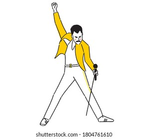 Freddie Mercury was a British singer, songwriter, record producer, and lead vocalist of the rock band Queen.