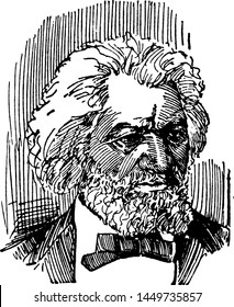 Frederick Douglass, vintage engraved illustration