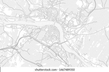 Fredericton, New Brunswick, Canada, bright outlined vector map with bigger and minor roads and steets created for infographic backgrounds.