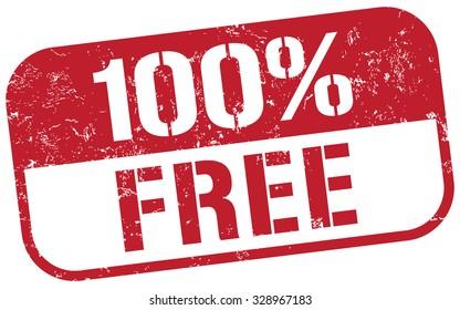 free 100 percent stamp