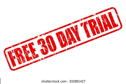 FREE 30 DAY TRIAL red stamp text on white