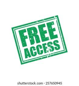 Free Access, Grunge Stamp, Vector illustration