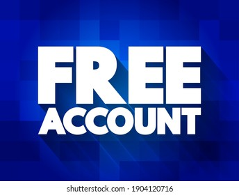 Free Account text quote, concept background