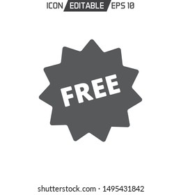 Free badge flat Icon template isolated. Vector illustration