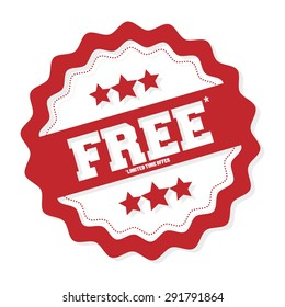 Free. Free Badge. Free Tag. Free Button. Vector